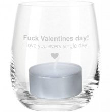 4you Design GmbH & Co. KG Windlicht Gravur Fuck Valentines Day! I love you every single day.