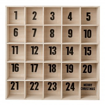 bloomingville adventskalender box paulownia. Black Bedroom Furniture Sets. Home Design Ideas