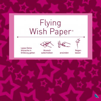 Wunschzettel-Set Flying Wish Paper Mini pink stars