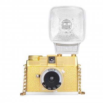 Kamera Diana Mini mit Blitz Gold Edition