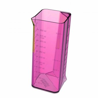 Messbecher 2-in-1 transparent pink