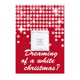 Magic Snow Card White Christmas