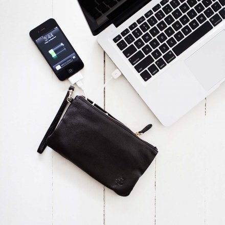 Mighty Purse Clutch mit Ladeakku Original Matte Black