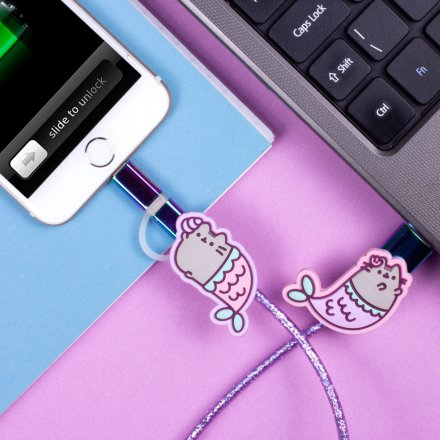 Thumbs Up 2in1 USB Ladekabel Pusheen Meerjungfrau