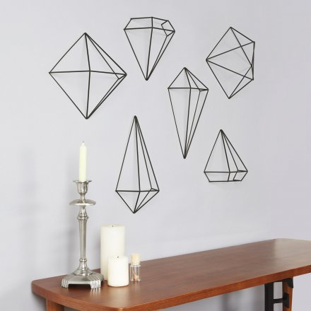 Umbra 3D-Wanddeko Prisma Wall Decor 3er-Set schwarz