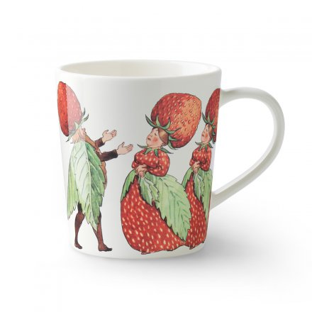 Design House Stockholm Elsa Beskow Tasse mit Henkel 40cl The Strawberry Family