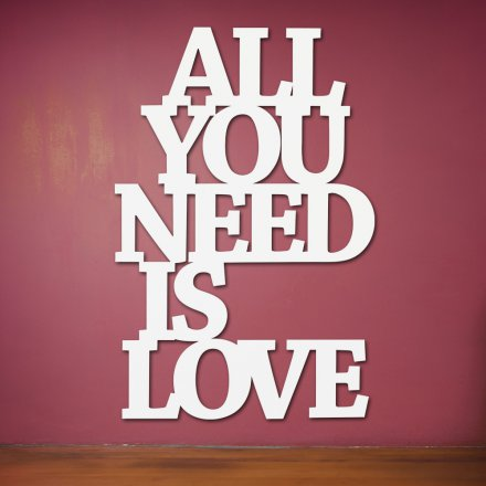 Westpaket Dekoschriftzug All you need is love
