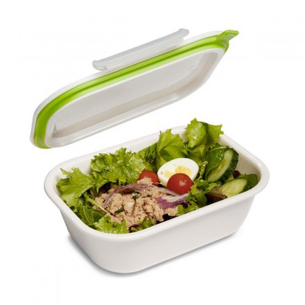 black+blum Lunch Box Rectangle groß weiß/grün