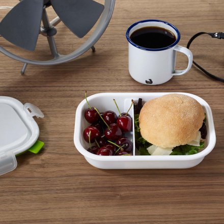 black+blum Lunch Box Rectangle weiß/grün