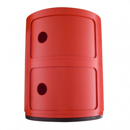 Kartell Container Componibili 2 rund rot