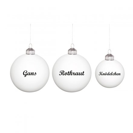 Donkey Products Christbaumkugeln Festessen 3er-Set