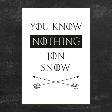loopdsgn Kunstdruck Jon Snow