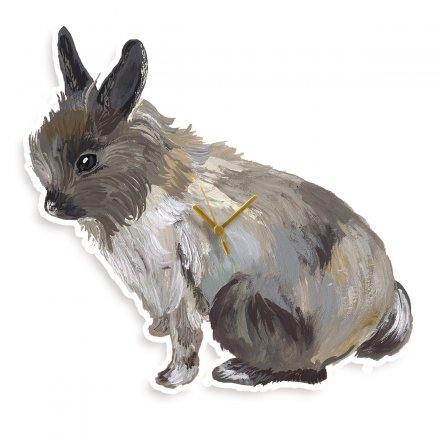 Domestic Uhr lapin gris