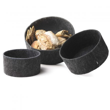 Menu Brotkorb 3er-Set Felt Bread Basket