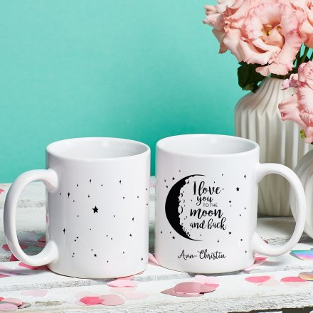 Tasse To The Moon mit Wunschname