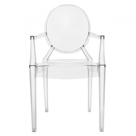 Kartell Stuhl Louis Ghost 2er-Set glasklar