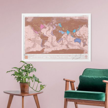 Weltkarte Scratch Map roségold