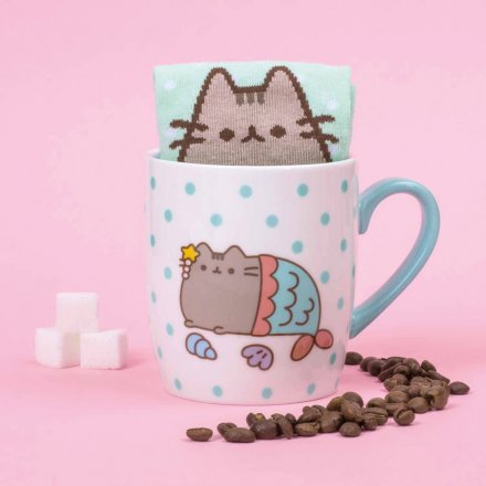 Thumbs Up Tasse mit Socke Pusheen Meerjungfrau