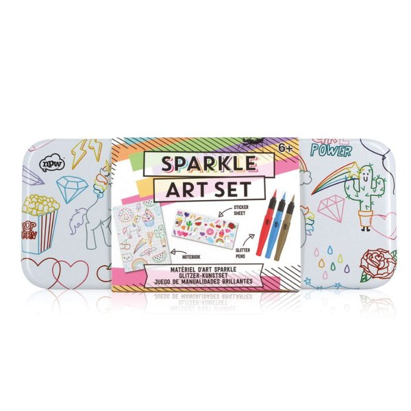 Kreativ-Set Sketch & Colour Sparkle Art