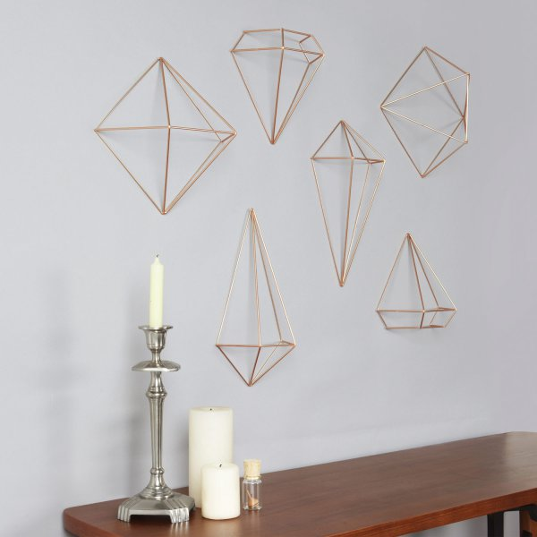 Umbra 3D-Wanddeko Prisma Wall Decor 3er-Set kupfer