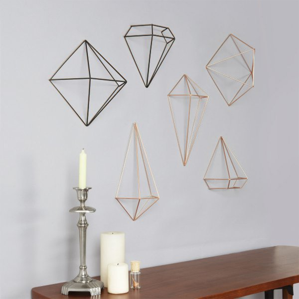 Umbra 3D-Wanddeko Prisma Wall Decor 3er-Set
