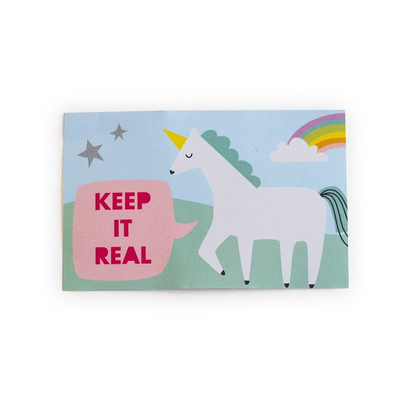 loopdsgn Aufkleber Einhorn Keep it real