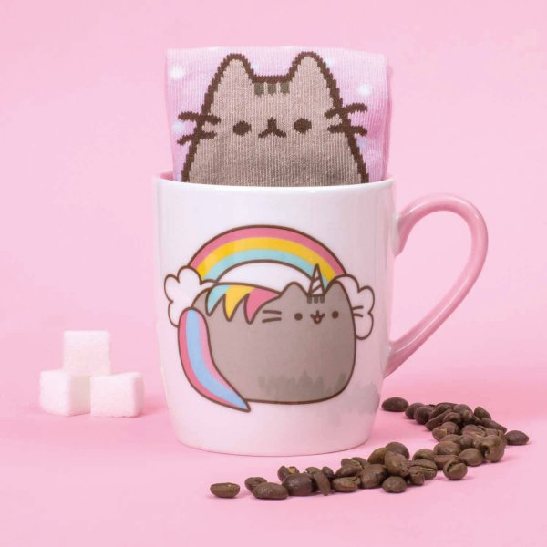 Thumbs Up Tasse mit Socke Pusheen Einhorn