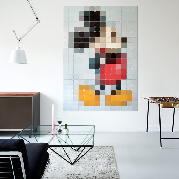 ixxi wanddekoration mickey mouse pixel online kaufen online shop. Black Bedroom Furniture Sets. Home Design Ideas