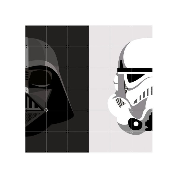 IXXI Wanddekoration Stormtrooper/Darth Vader medium