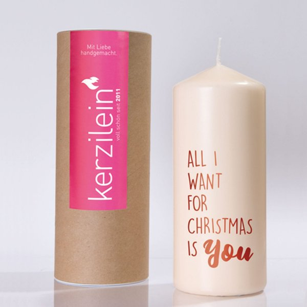 Kerze All i want for christmas…