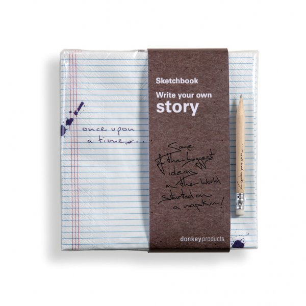 Servietten Sketchbook Write Your Own Story
