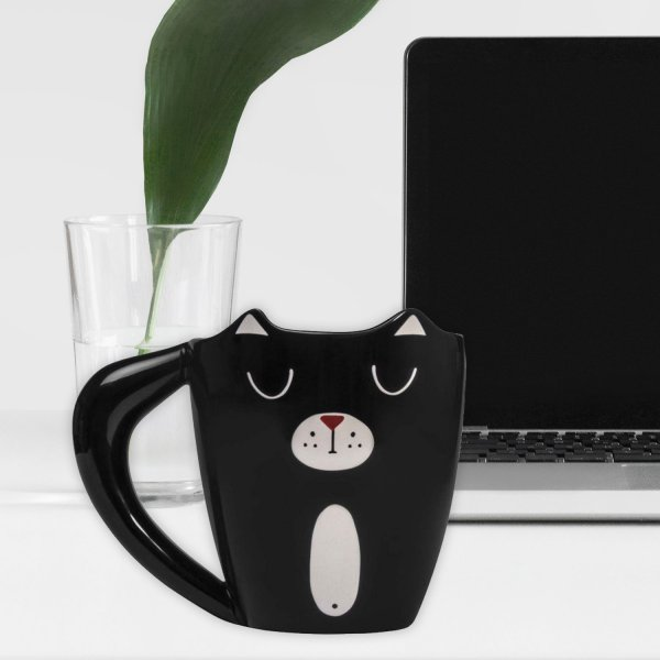 Thumbs Up Tasse Black Cat