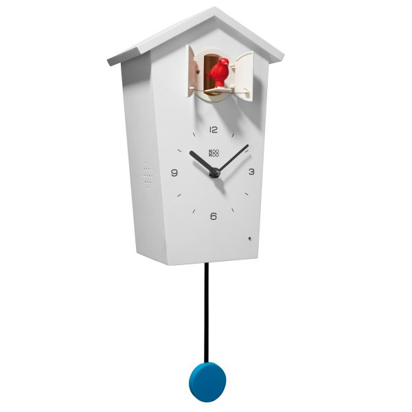 kookoo kuckucksuhr birdhouse mit vogelstimmen wei online kaufen online shop. Black Bedroom Furniture Sets. Home Design Ideas