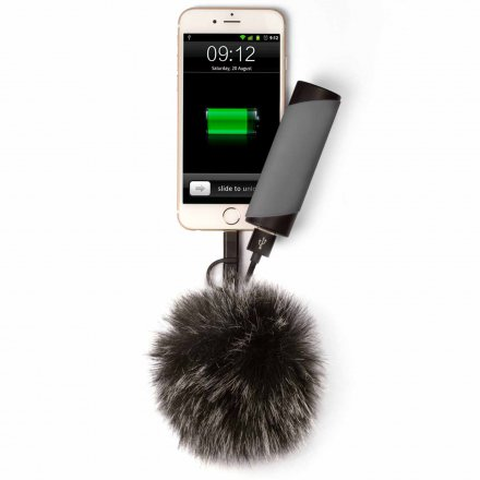 Thumbs Up 2in1 USB Ladekabel PomPom mit iPhone Lightning und Micro USB