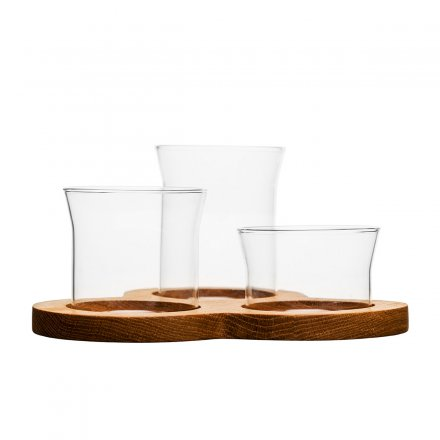 Servier Set Oval Oak 4er-Set