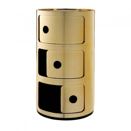 Kartell Container Componibili 3 rund metallic gold