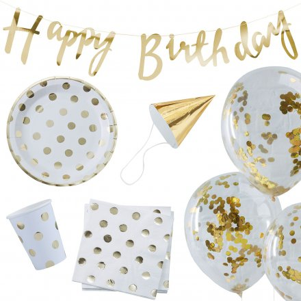 Geburtstags-Kit Happy Birthday gold