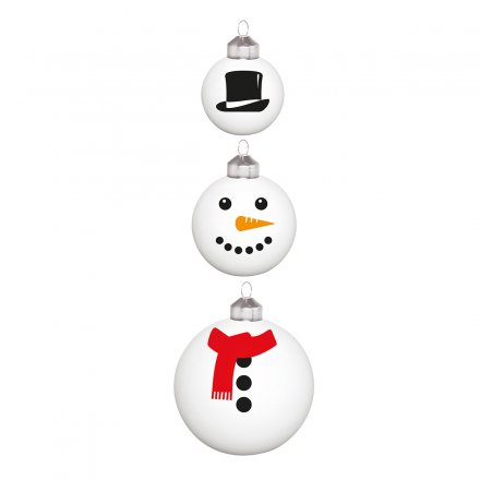 Donkey Products Christbaumkugeln Frosty 3er-Set