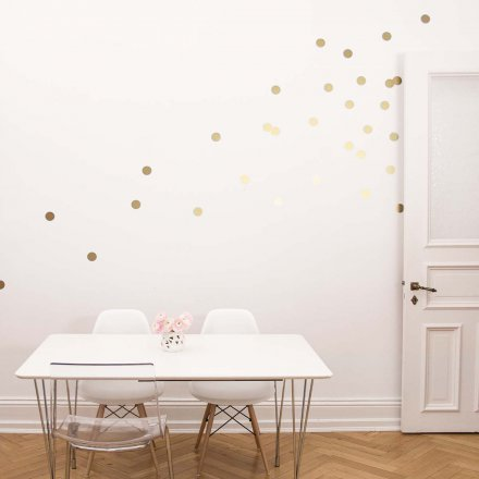 Eulenschnitt Wandsticker Dots gold 18er-Set
