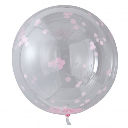 3er-Set XL Konfetti-Ballon pink