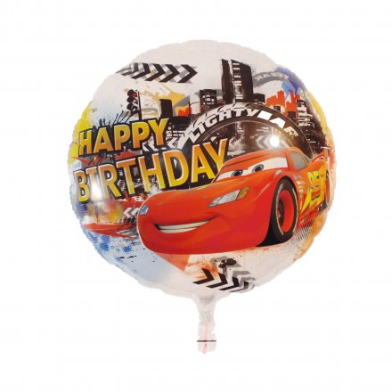 Heliumbefüllter Luftballon Happy Birthday Cars