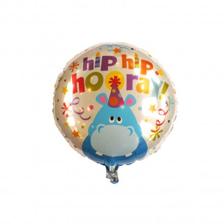 Luftballon Hip Hip Hooray Hippo