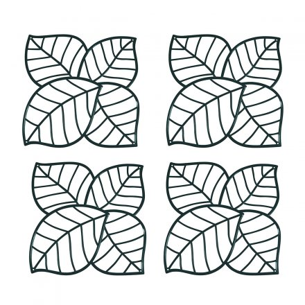 Koziol Dekoelement Leaf 4er-Set