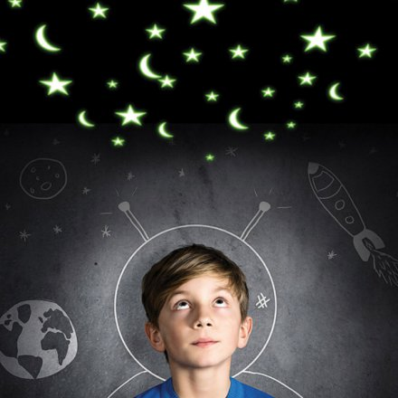Thumbs Up LED-Projektor Mond & Sterne
