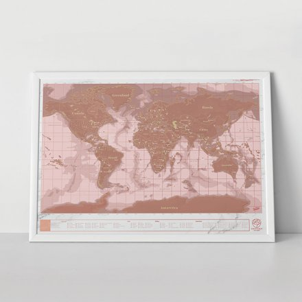 Luckies of London Weltkarte Scratch Map roségold