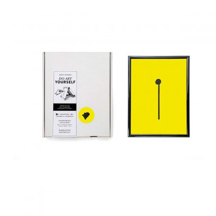 Baur&Baur Mal-Set Baur's Selfpaint rich black on fluorescent yellow