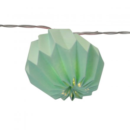 STAR LED-Lichterkette Paper Flower mint