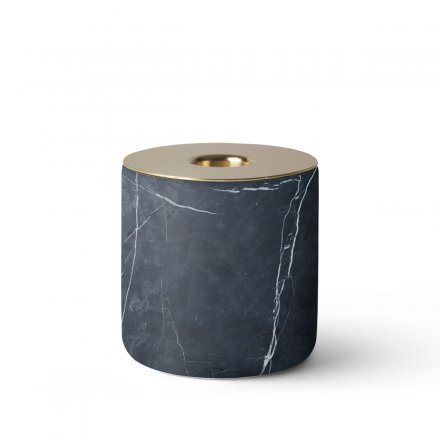 Menu Kerzenständer Chunk of Black Marble L