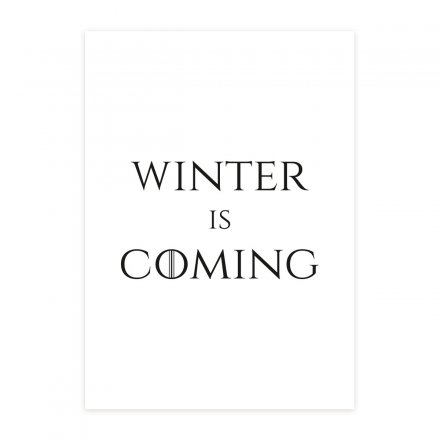 loopdsgn Kunstdruck Winter is Coming