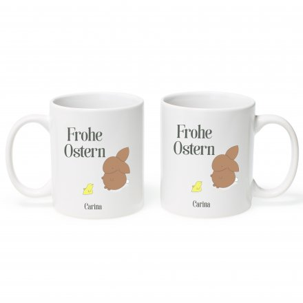 Oster-Tasse Bunny mit Name